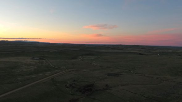 Aerial Drone Footage of Montana Sunset