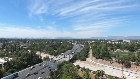 Aerial Drone Video of Studio City, San Fernando Valley, CA