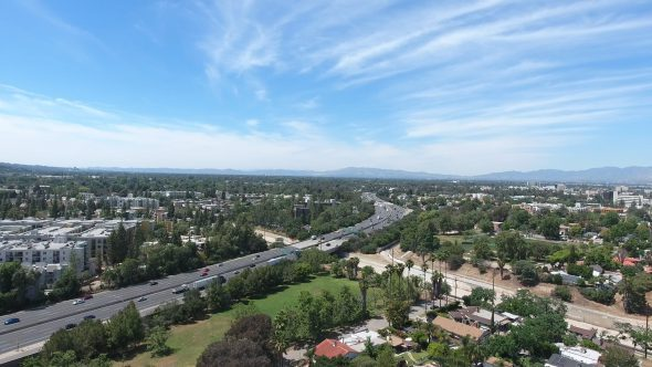 4K Aerial Drone Footage of Studio City, San Fernando Valley, CA