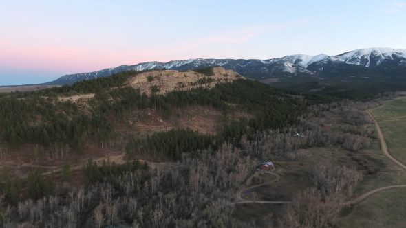 4K Aerial Drone Footage of Montana Mountains at Sunset