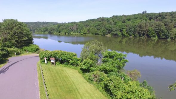 Aerial View #2 of Frances Slocum Lake in Kingston Twp Pa
