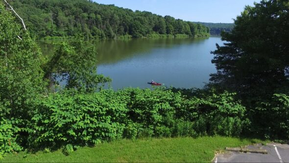 Aerial View #1 of Frances Slocum Lake in Kingston Twp Pa