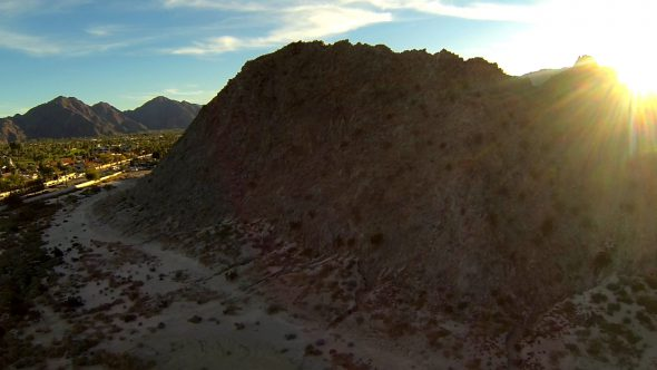 La Quinta Fly Over Royalty Free Stock Drone Video Footage