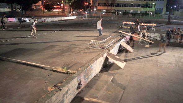 Skateboarders Nighttime