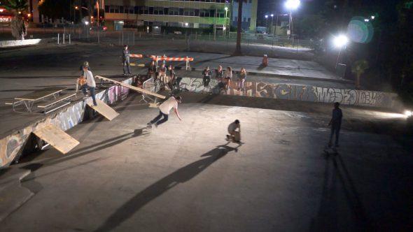 Skateboarders Nighttime 2