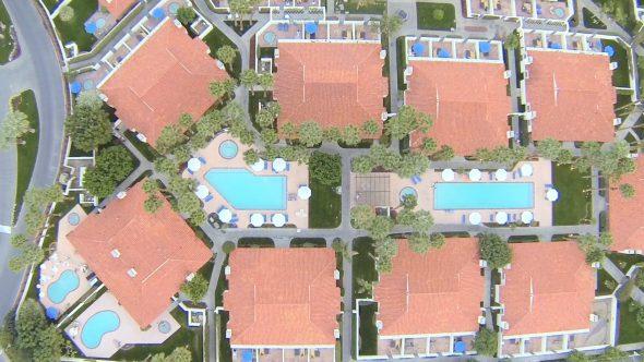 Resort Pool Beauties 2 Royalty Free Stock Drone Video Footage