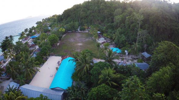 Papua Village Soccer 1 Royalty Free Stock Drone Video Footage