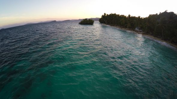 Papua Village Kids Dock 10 Royalty Free Stock Drone Video Footage