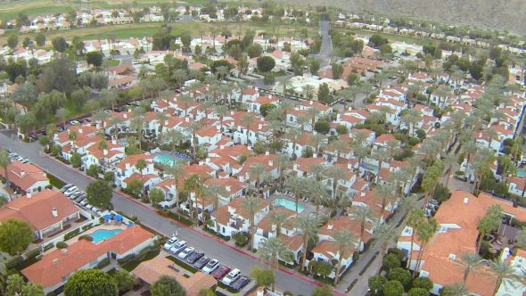 Slow La Quinta Fly Over 1 Royalty Free Stock Drone Video Footage