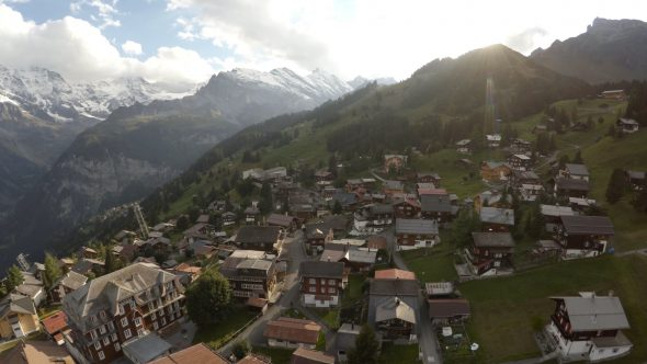 Swiss Town Fly Over