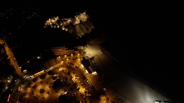 Cassis French Castle Night