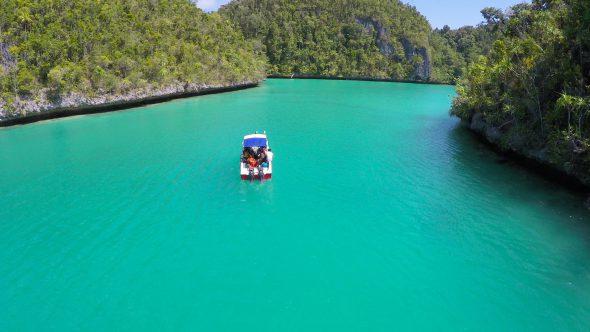 Raja Ampat Islands 4 Royalty Free Stock Drone Video Footage