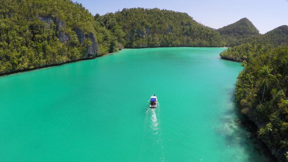 Raja Ampat Islands 7 Royalty Free Stock Drone Video Footage
