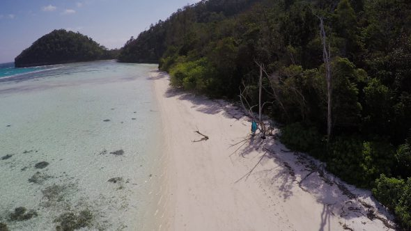 Raja Ampat Islands 11 Royalty Free Stock Drone Video Footage