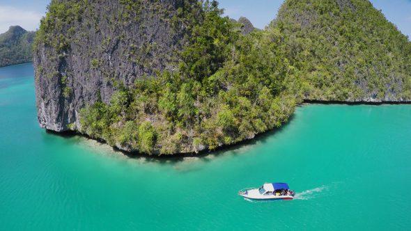 Raja Ampat Islands 10 Royalty Free Stock Drone Video Footage