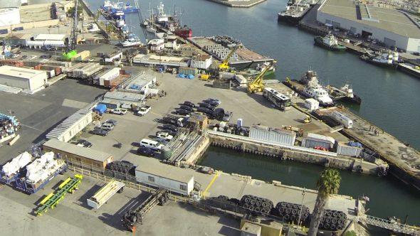 Cargo Flyover Royalty Free Stock Drone Video Footage