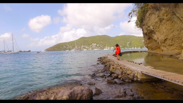 Ladies on Seawalk in Bequia