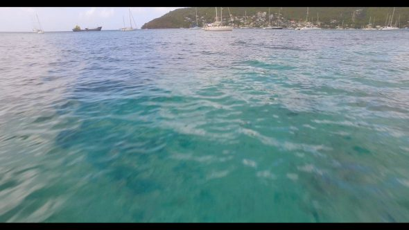 Flying Low Over Water Royalty Free Stock Drone Video Footage