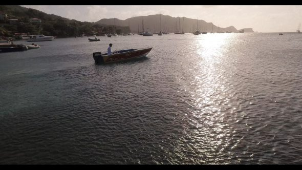 Motorboats in Harbor Bequia