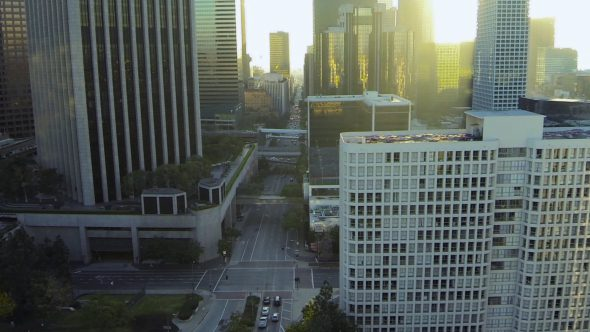 Rising in Los Angeles Under at Sunset