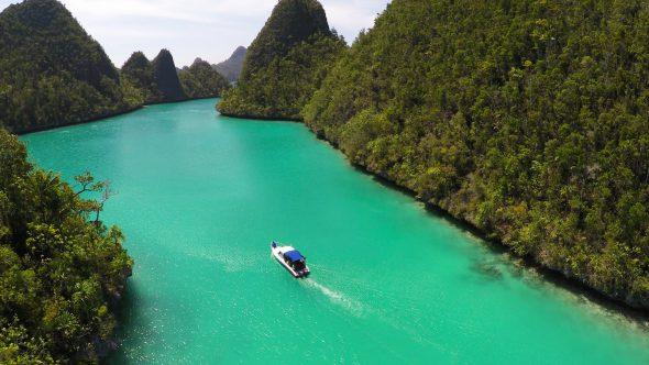 Raja Ampat Islands 22 Royalty Free Stock Drone Video Footage