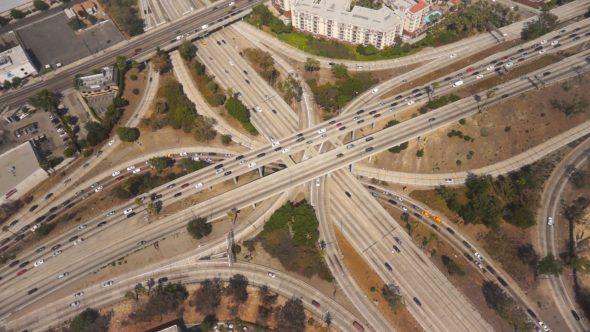 LA Freeway Interchange at Rush-Hour 2