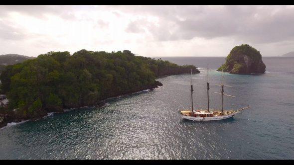 Sailboat Beside an Island