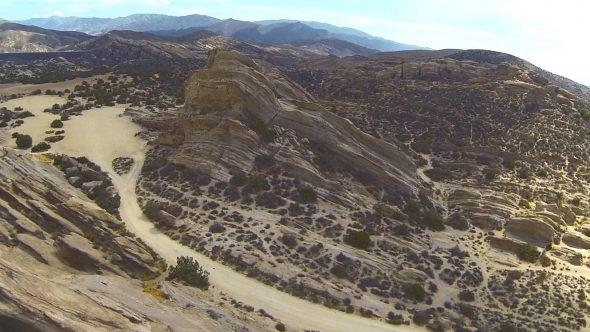 Desert Rock Royalty Free Stock Drone Video Footage