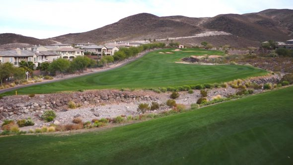 Golf Course Glide Royalty Free Stock Drone Video Footage