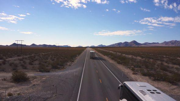 Desert Bus Hover – Nevada Desert