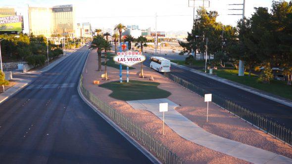 Desert Bus Passing Vegas Sign