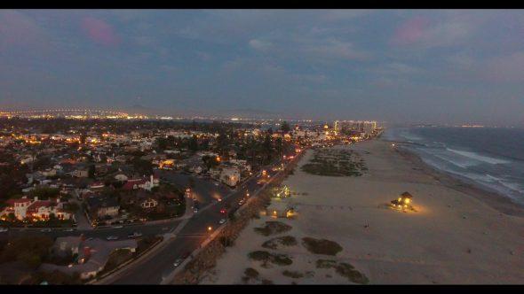 Coronado California Beach 5 Royalty Free Stock Drone Video Footage