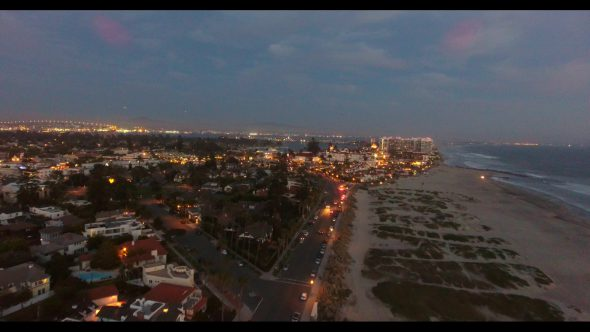 Coronado California Beach 6 Royalty Free Stock Drone Video Footage