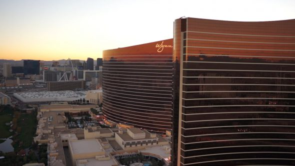 Wynn & Golf Course – Las Vegas Royalty Free Stock Drone Video Footage