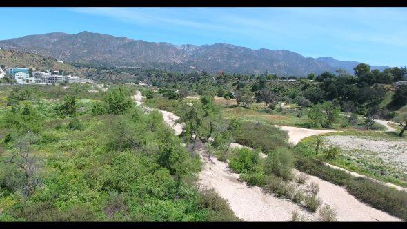 Arroyo Pasadena 2 Royalty Free Stock Drone Video Footage