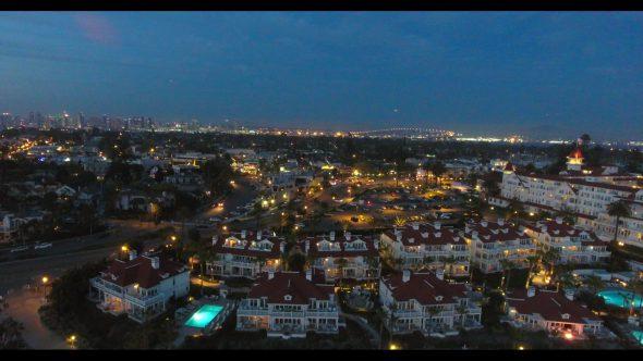 Coronado California Beach 11 Royalty Free Stock Drone Video Footage