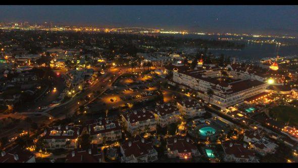 Coronado California Beach 12 Royalty Free Stock Drone Video Footage