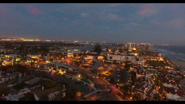 Coronado California Beach 7 Royalty Free Stock Drone Video Footage