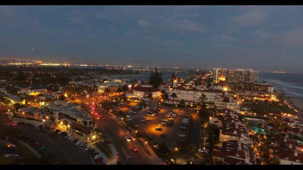 Coronado California Beach 8 Royalty Free Stock Drone Video Footage