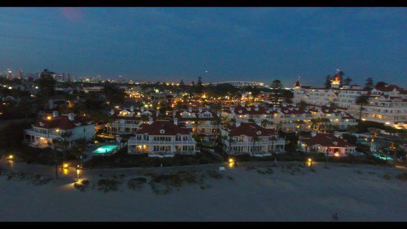 Coronado California Beach 10 Royalty Free Stock Drone Video Footage