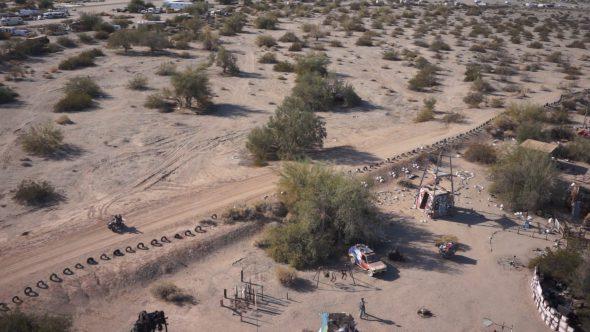 Slab City ATV Royalty Free Stock Drone Video Footage
