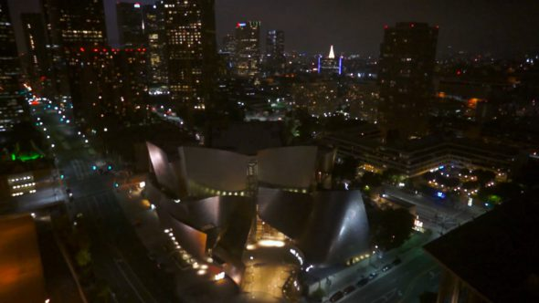 Disney Concert Hall Flyover Royalty Free Stock Drone Video Footage