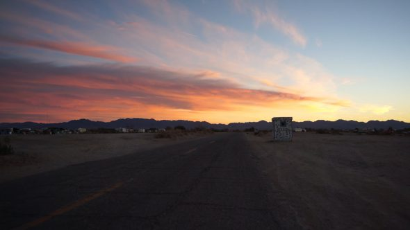 Welcome to Slab City at Sunset 2
