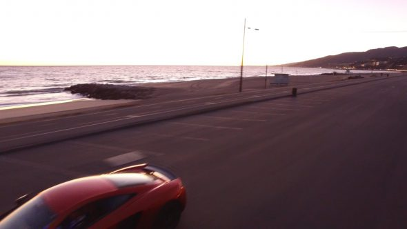 McLarens Coastal Chase 3 Royalty Free Stock Drone Video Footage