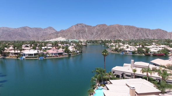Lake La Quinta and Sta. Rosa Mountains