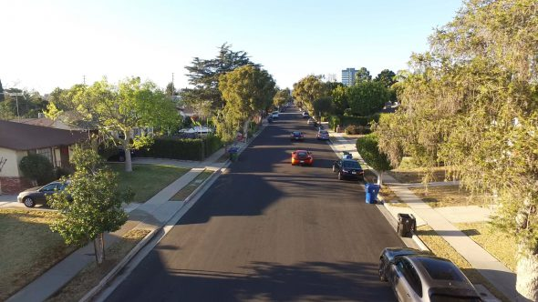 McLarens Suburban Chase 2 Royalty Free Stock Drone Video Footage