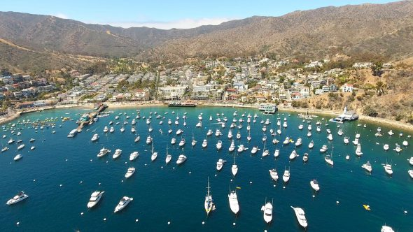 Sta. Catalina Harbor 1 Royalty Free Stock Drone Video Footage