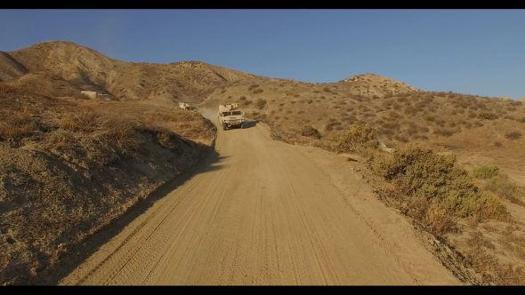 Desert humvees and Truck Convoy 3