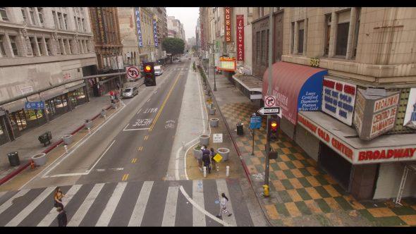 Running Along a Downtown L.A. Street 2