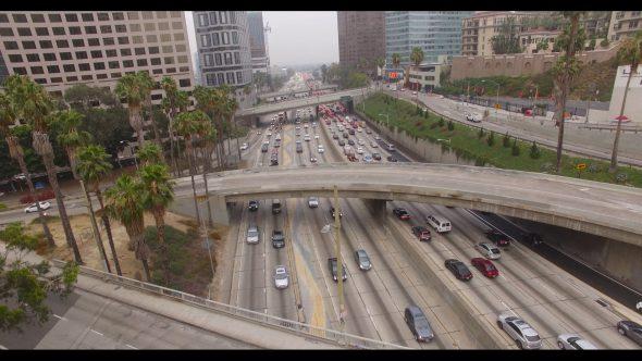 Running Along a Downtown L.A. Interchange
